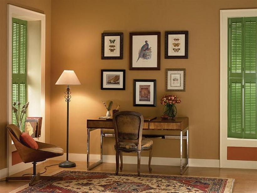 Brown Wall Paint For Minimalist Home