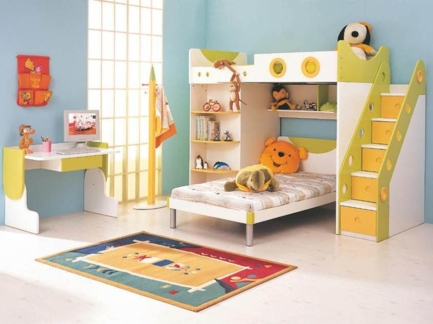 Colorful Bedroom Desk Design For Kid