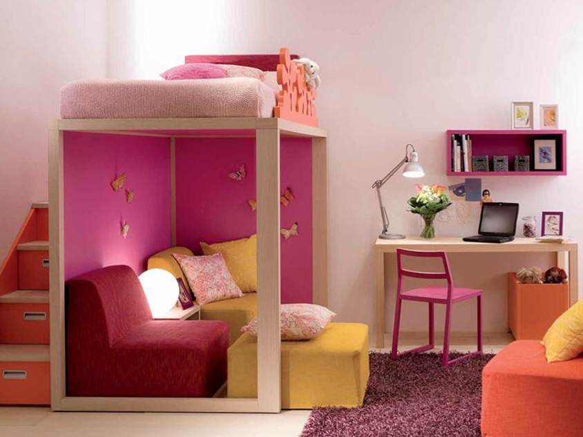 Cute Desk Design For Girl Bedroom