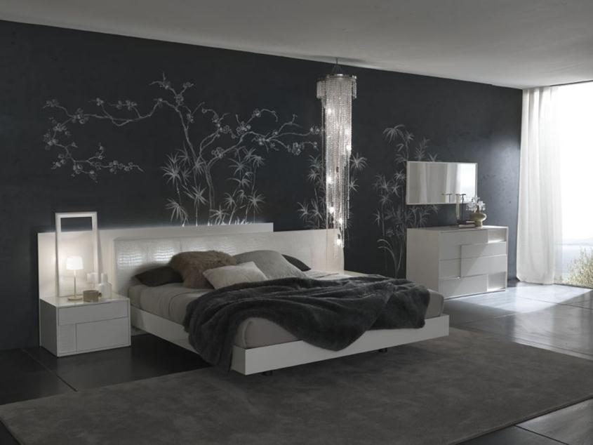 Elegant Black Bedroom Paint Color