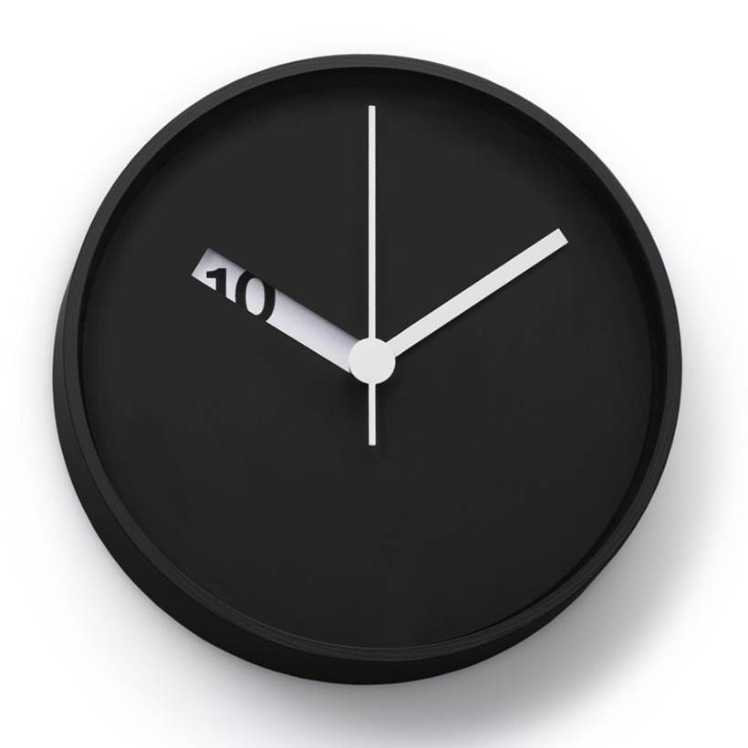 Elegant Black Wall Clock Idea 4 Home Ideas