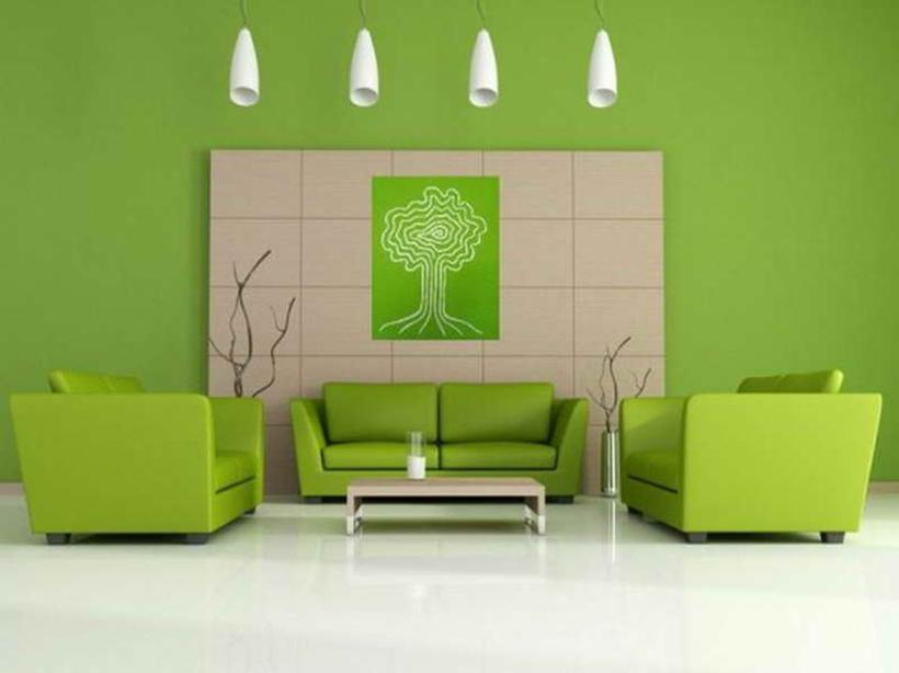 Fresh Green Paint Idea For Minimalist House