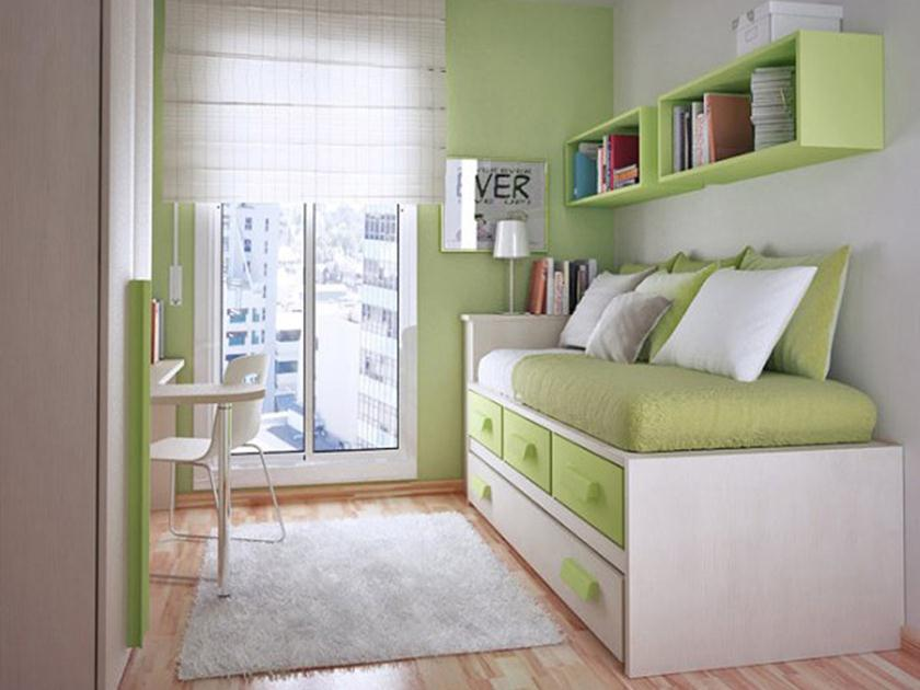 Green Paint For Creative Teen Bedroom