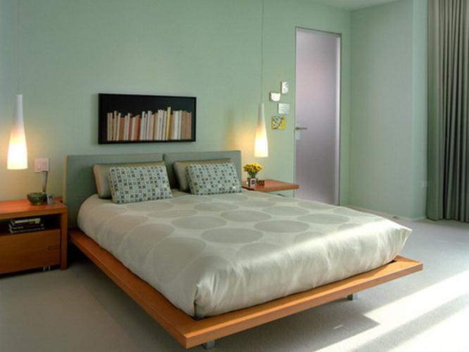 Green Paint Idea To Make Fresh Bedroom