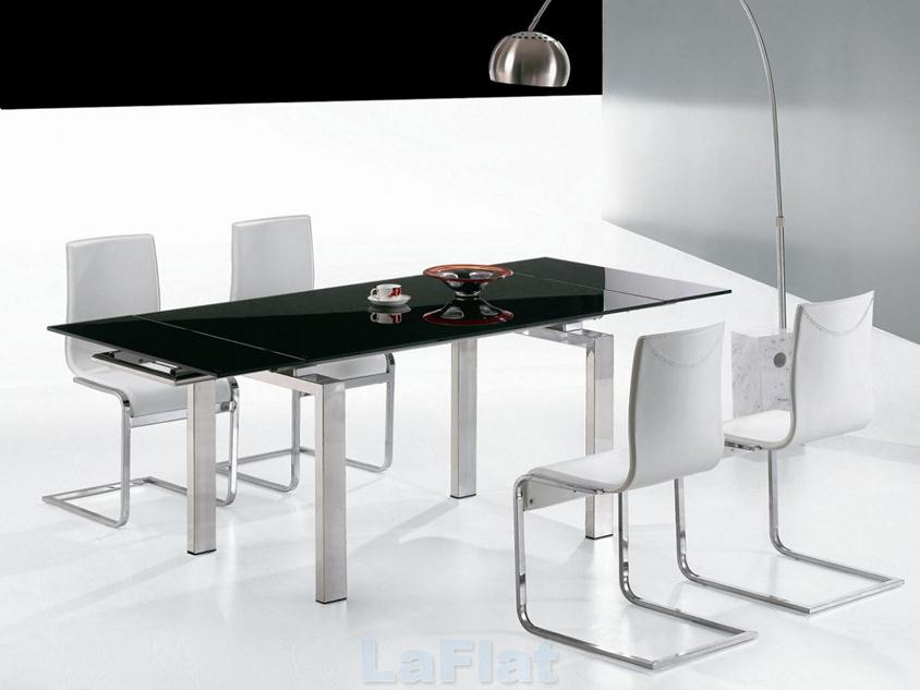 Luxury Black White Dining Table Set