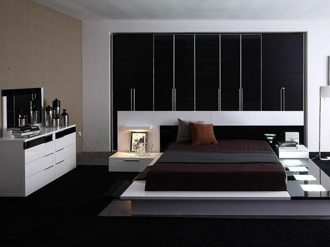 Luxury Black White Theme For Modern Bedroom