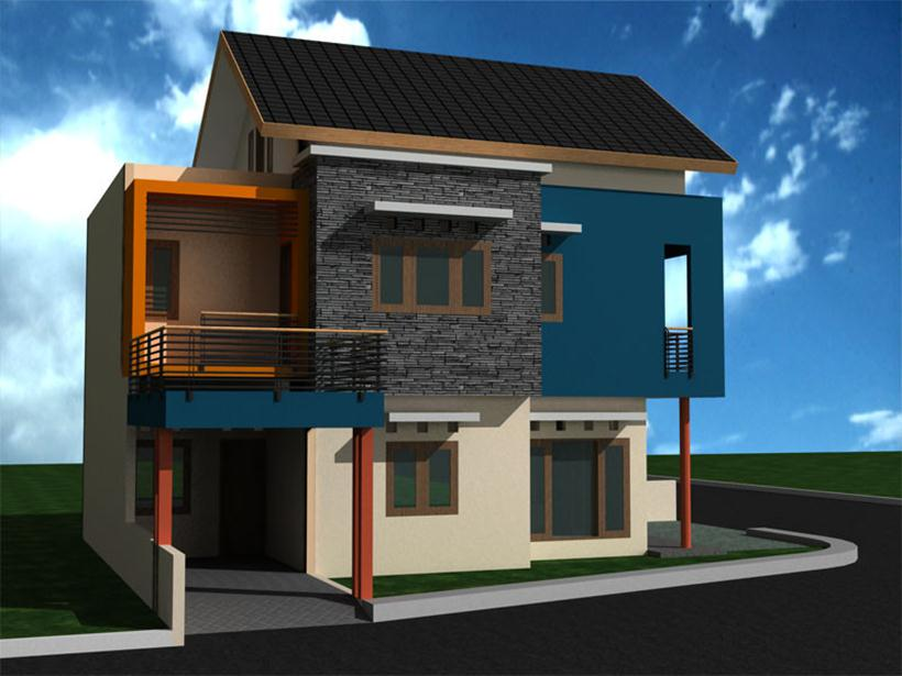Minimalist 2 Floor House Design Model