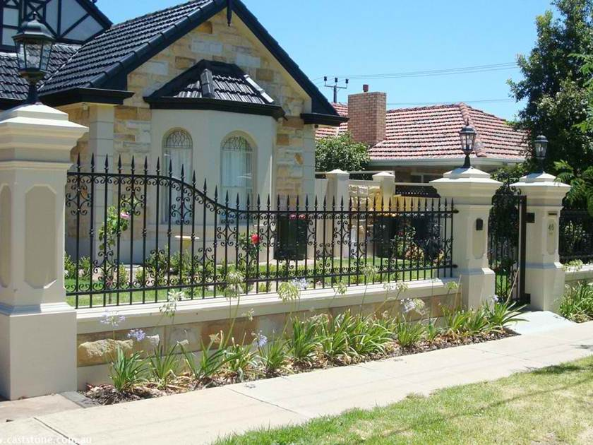 Modern Attractive House Fence Photo Gallery