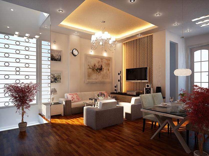 Modern Home Interior With Decorative Lighting