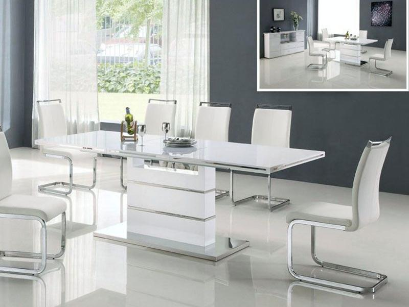 Modern White Dining Table Color