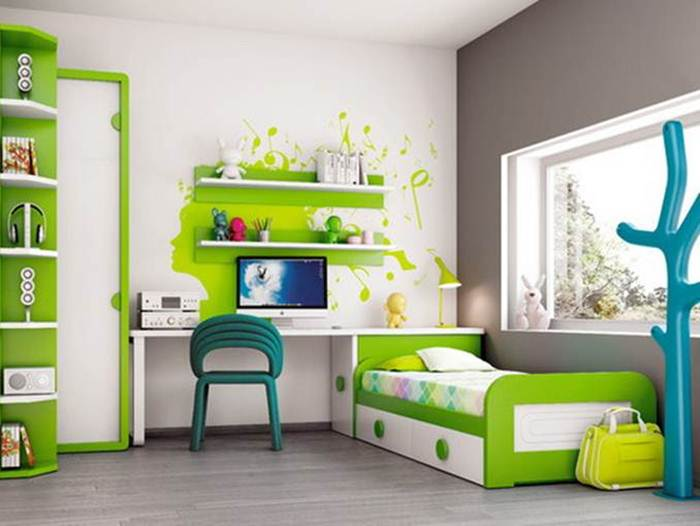 Nice Color Idea For Children Desk