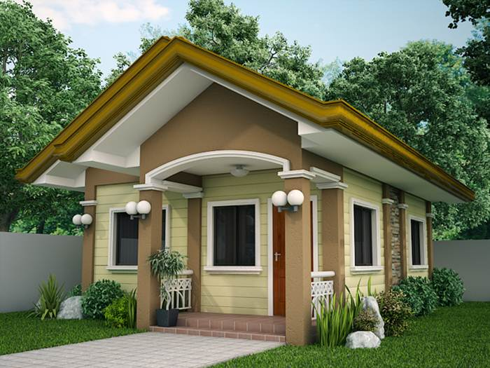 nice small house with simple design - Home Designs 2015