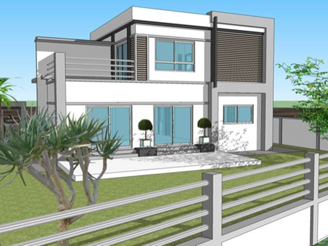 Modern minimalist 2 floor house designs 4 home ideas for Modern home plans with cost to build
