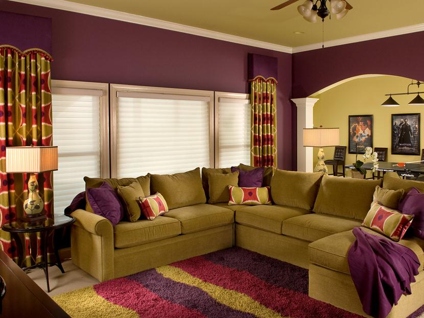 romantic purple color for home interior - Paint Color Selection For Living Room