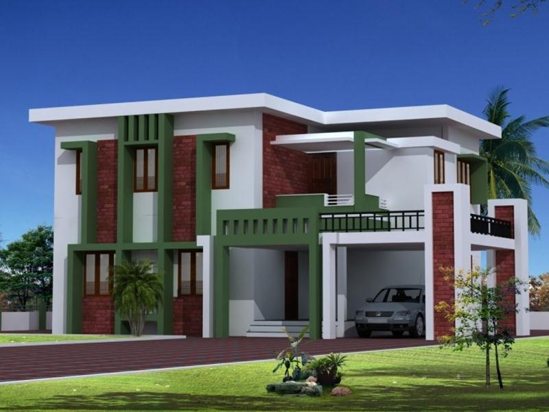 Simple home with modern style 4 home ideas for Different style house plans