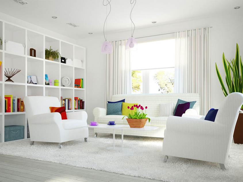 Trend White Home Interior Model