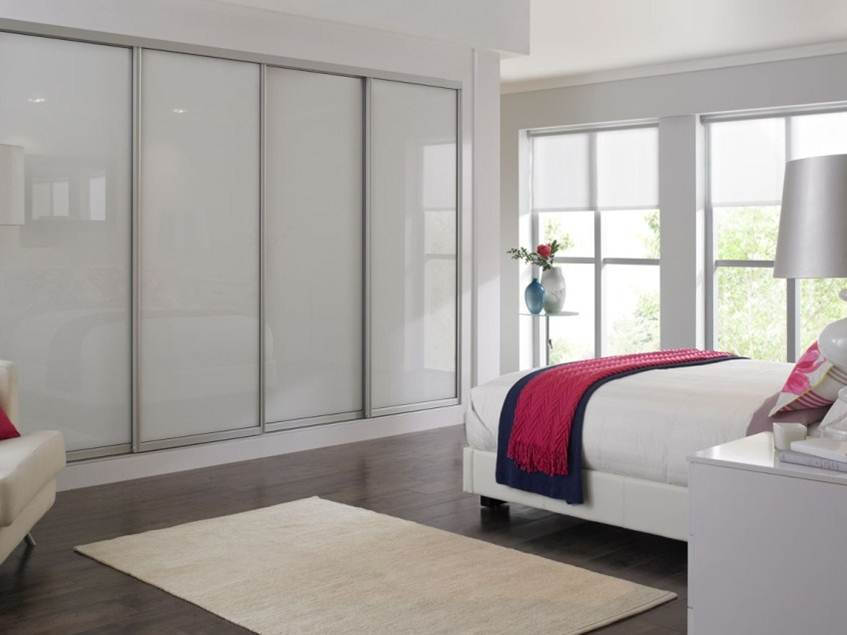 White Bedroom Wardrobe Design Idea