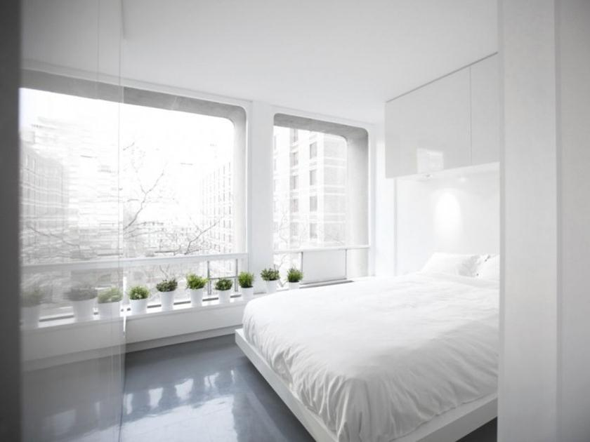 White Themed Minimalist Apartment Interior