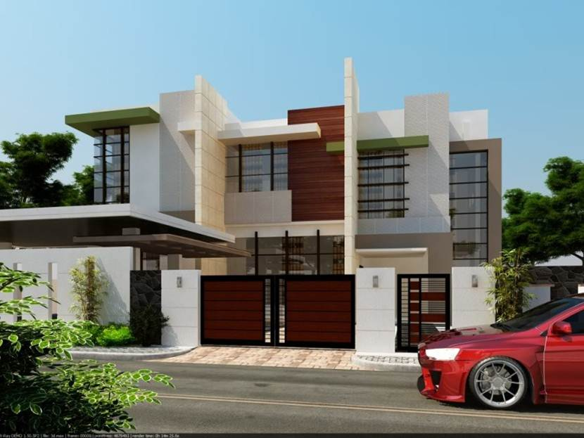 2 Floor House With Minimalist Style