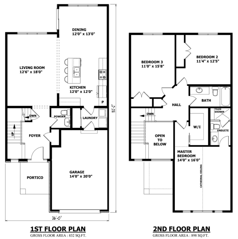 2 urban home plan with minimalist style 4 home ideas for Minimalist house floor plans