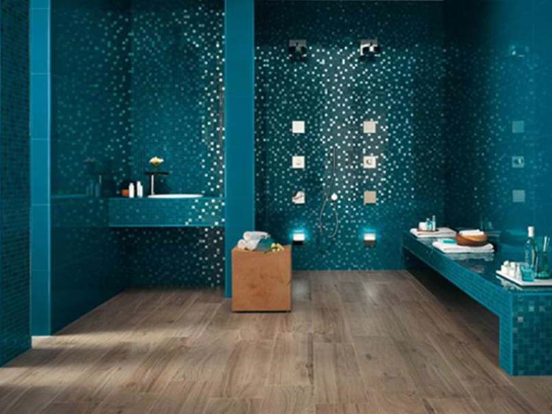 Bathroom Ceramic Design With Bold Color