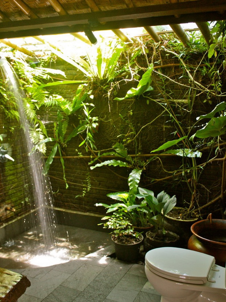 Bathroom Decor With Urban Garden Design