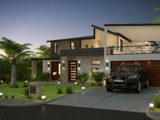 Minimalist  Storey Tropical Home Design  Home Ideas - Tropical house design concept