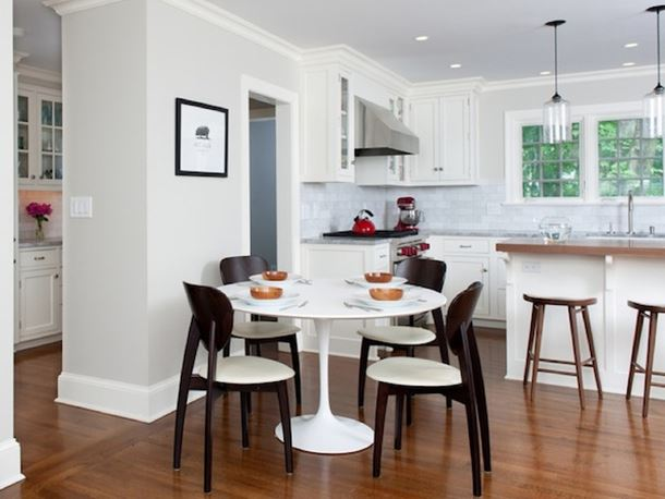 Beautiful Kitchen Interior With Dining Table