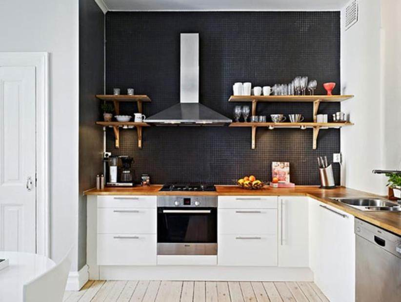 Black And White Minimalist Kitchen Design