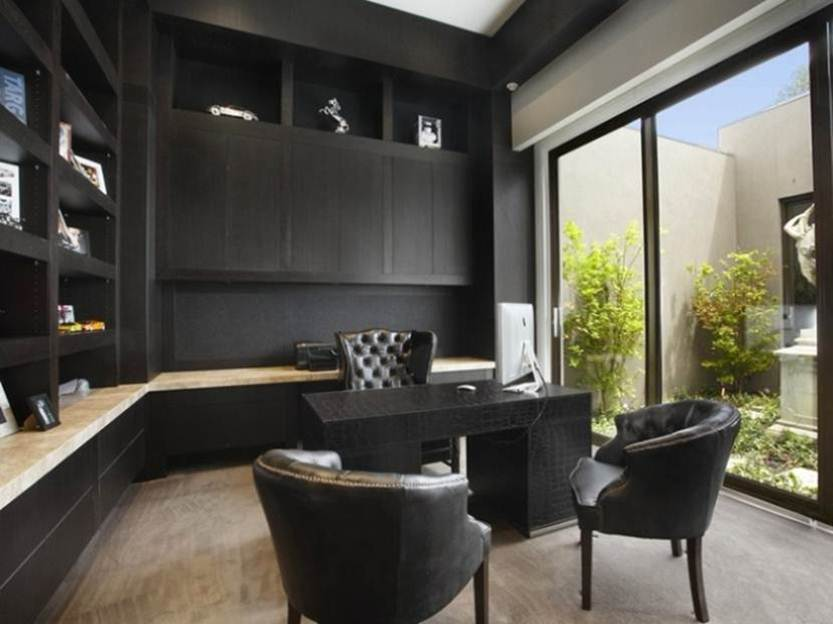 ... Black Color For Affordable Home Office Decor Affordable Home Decor For Elegant  Office
