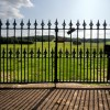 Black Iron Fence Design For Modern House