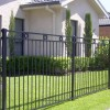 Black Iron Fence For Minimalist Home