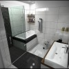 Black White Bathroom Suits In Small Room