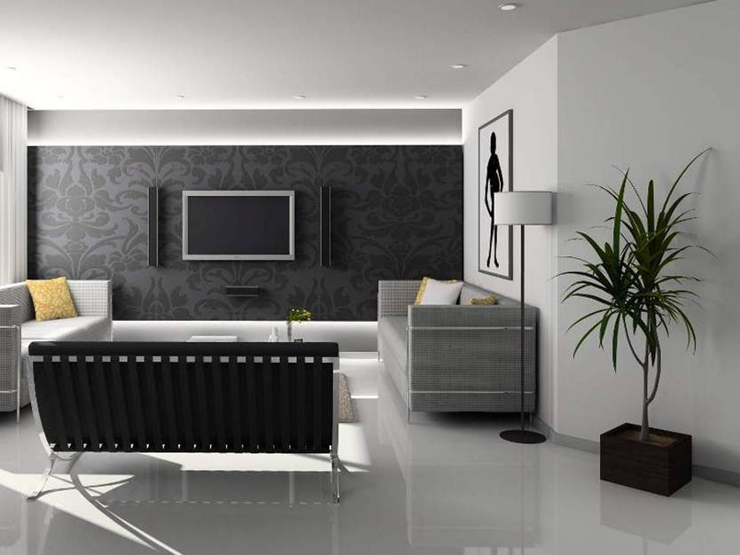 Black White Interior Wall Paint
