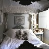 Black White Shabby Chic Bedroom Interior