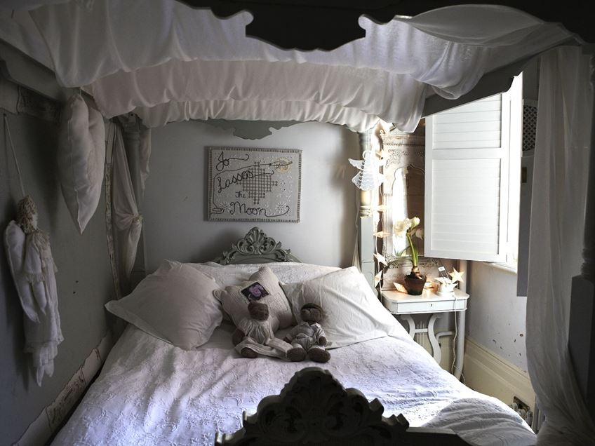 Black White Shabby Chic Bedroom Interior 4 Home Ideas
