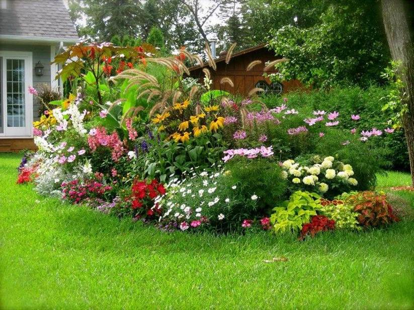 Genial Colorful Home Garden Decorating Ideas