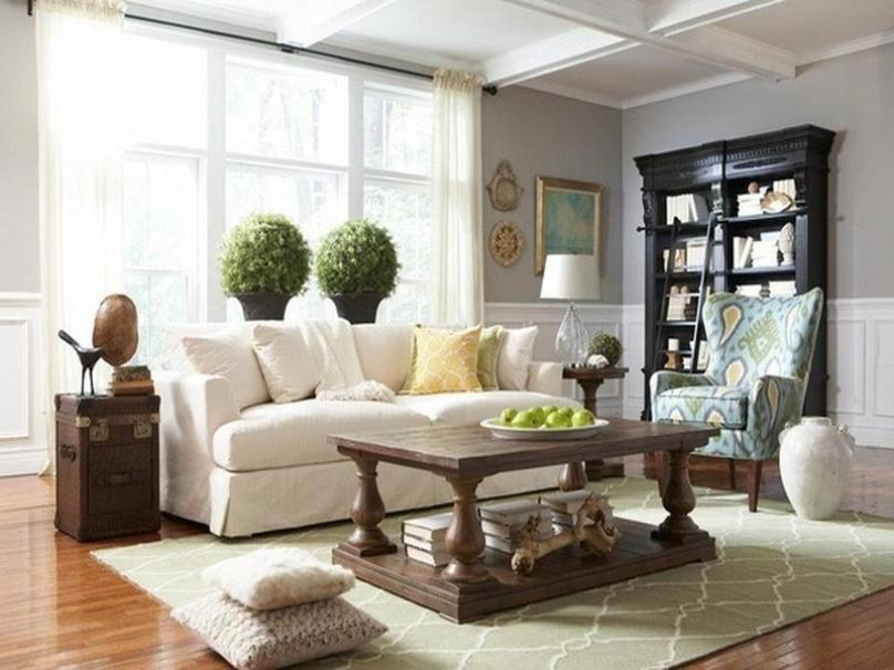 DIY Living Room With Gray Color Paint