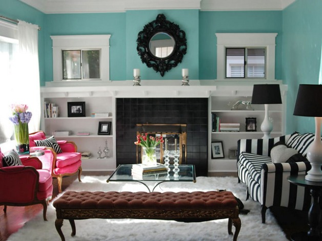 Decorating Idea For Turquoise Living Room