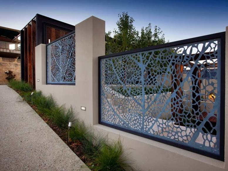 Decorative fence for modern home design 4 home ideas for Wall gate design homes