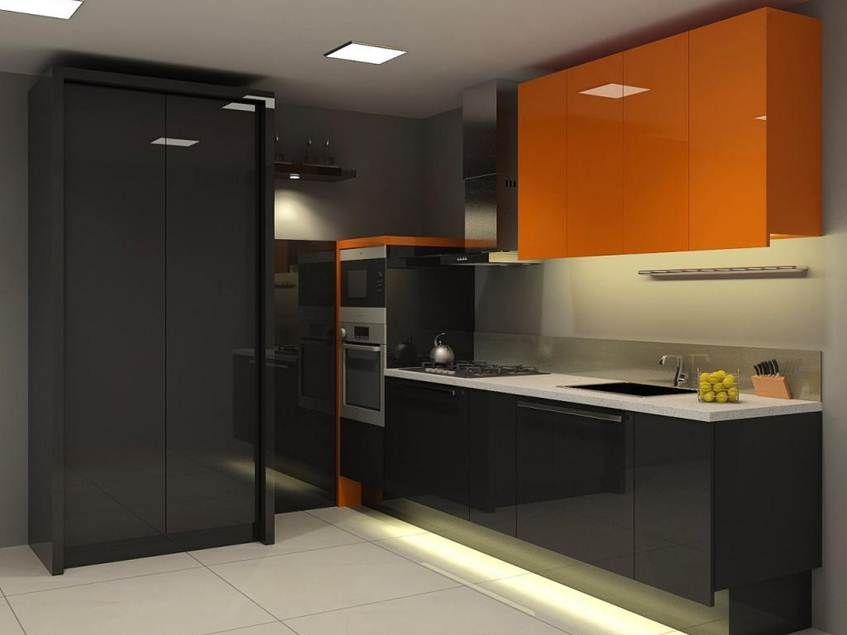 Elegant Modern Small Kitchen Color Combination