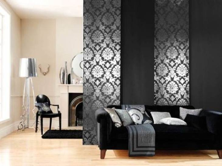 Living Room Divider With Black Color