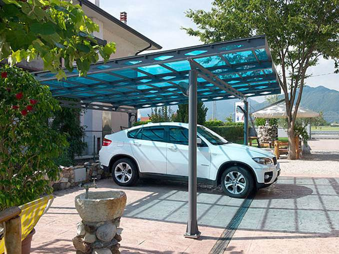 Minimalist Home Roof Carport Design Idea