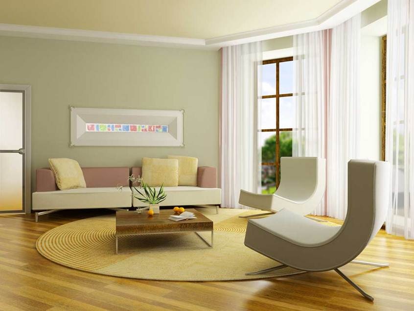 Minimalist Living Room Paint Color Combination Use