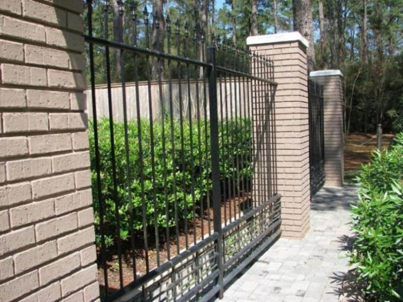 Modern Black Iron Fence For Home