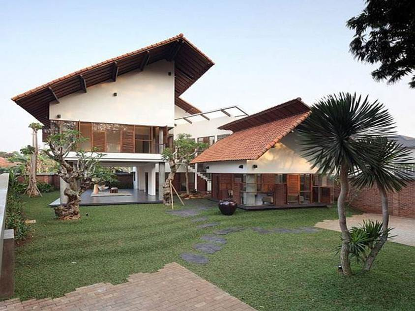 Tropical home design for minimalist wooden house 4 home for Modern tropical home designs