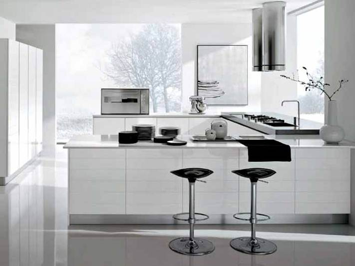 Modern White Kitchen Design Idea