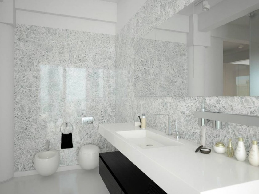 Motif Design For White Bathroom Ceramic