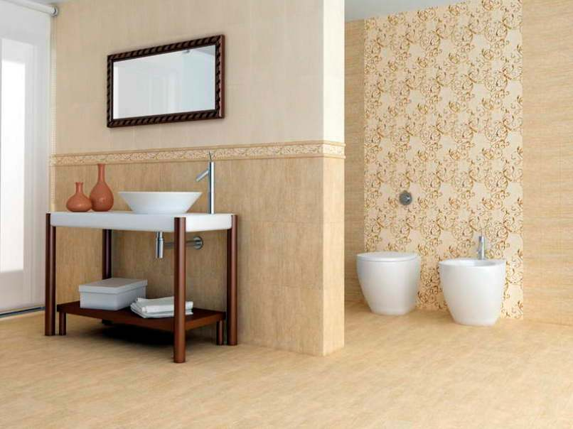 Nice Bathroom Layout With Ceramic Decor