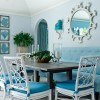 Nice Dining Room With Turquoise Home Decor